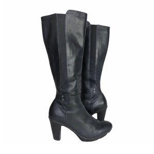 Blondo Leather Waterproof Heeled Boots Black 7.5